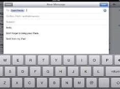 inviare allegate e immagini via email su ipad