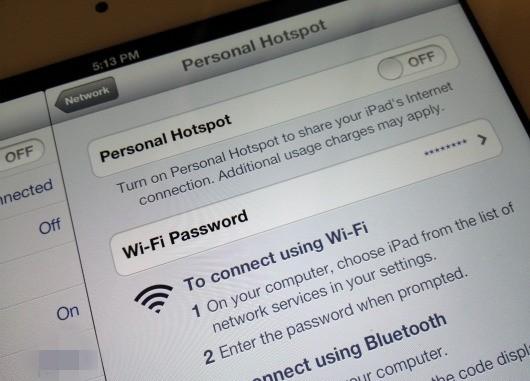 usare ipad come hotspot